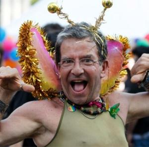 Cámara #Border en la marcha del orgullo gay