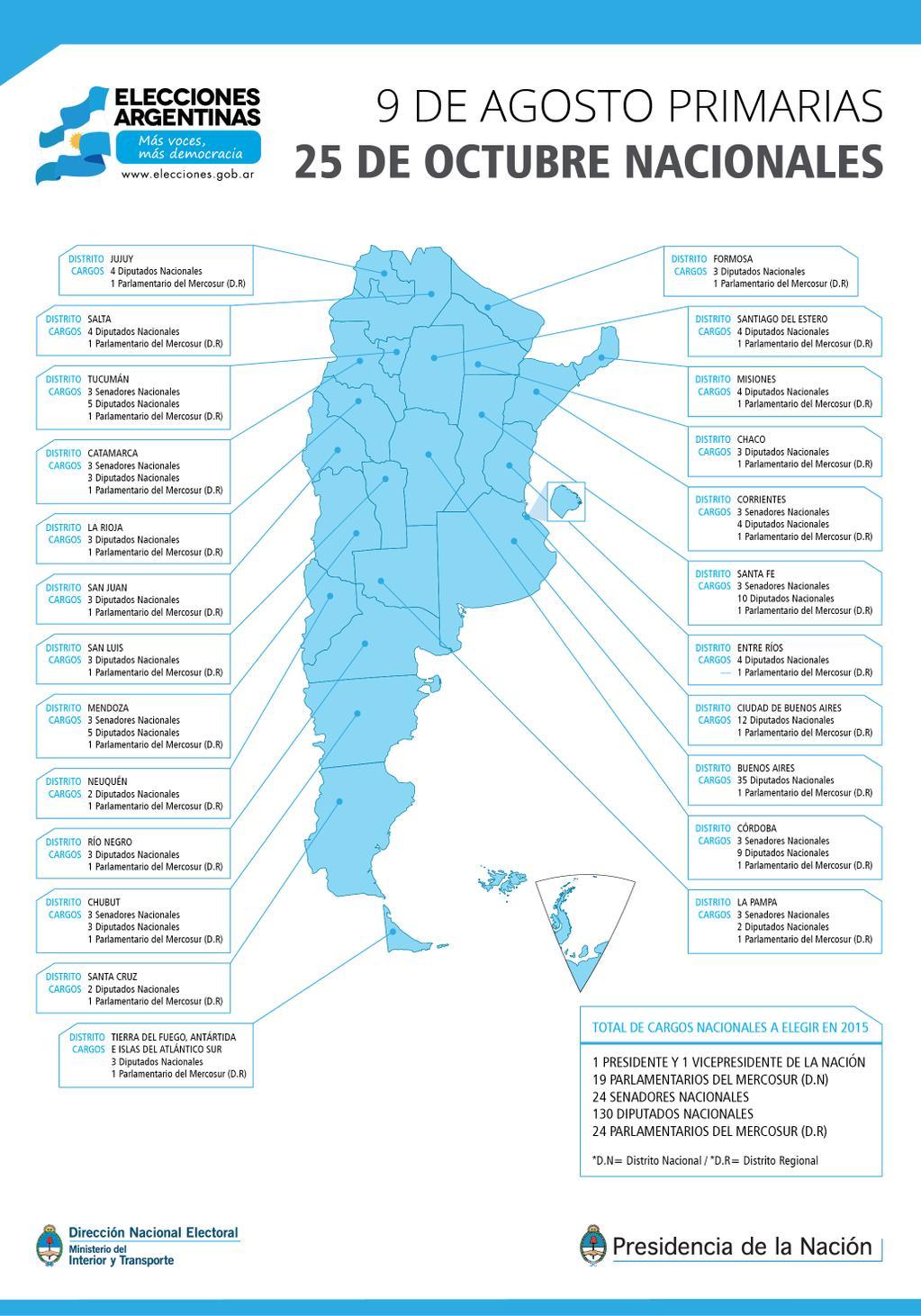 mapa electoral 2015