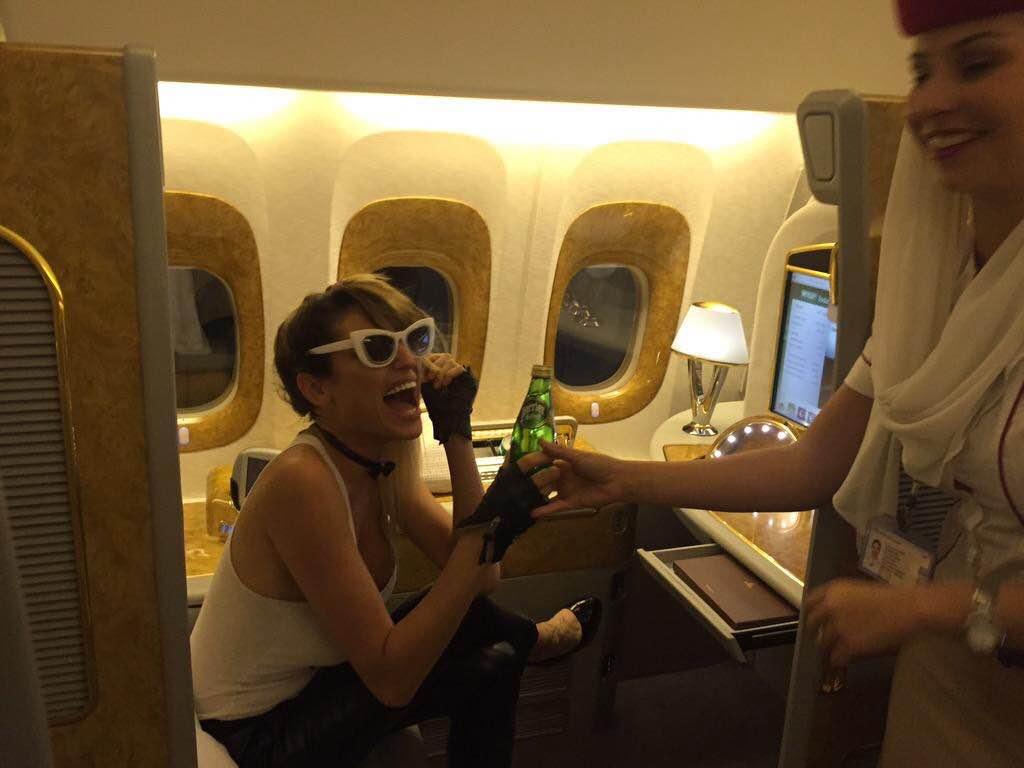 Xipolitakis en el avión