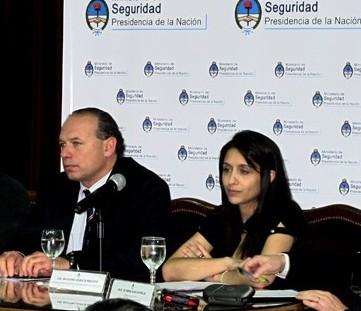 Agustina Propato y Sergio Berni