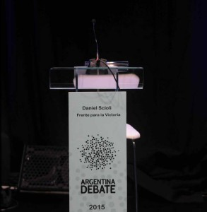 Scioli sin debate