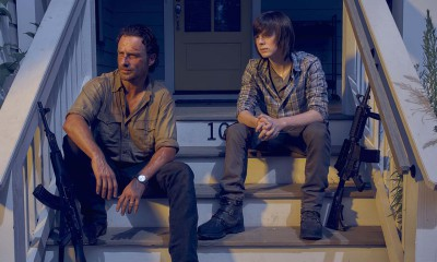 Andrew Lincoln as Rick Grimes and Chandler Riggs as Carl Grimes - The Walking Dead _ Season 6, Gallery - Photo Credit: Frank Ockenfels 3/AMC