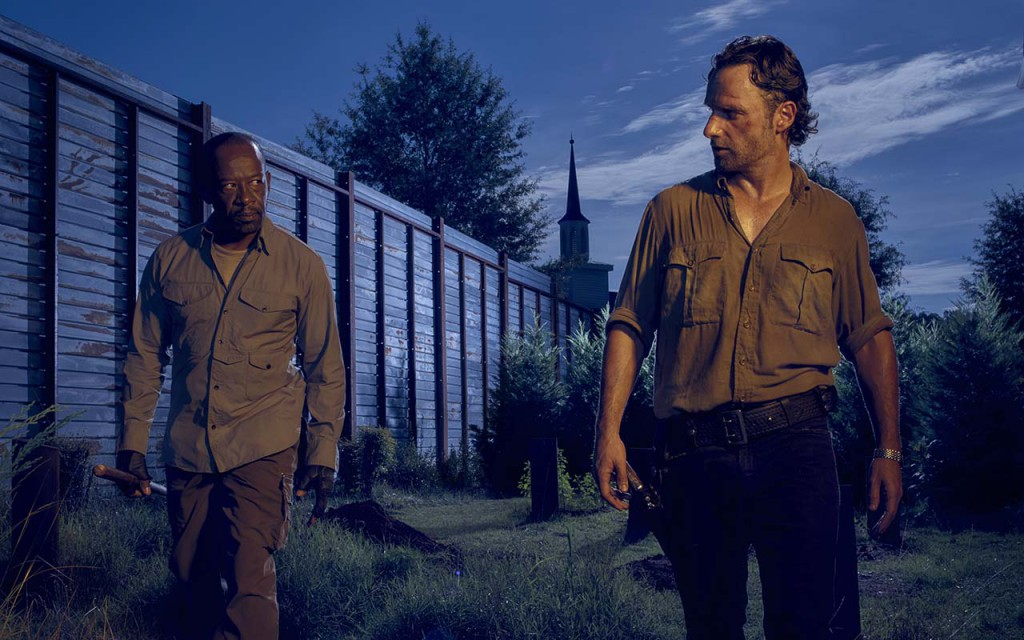Lennie James as Morgan and Andrew Lincoln as Rick Grimes - The Walking Dead _ Season 6, Gallery - Photo Credit: Frank Ockenfels 3/AMC