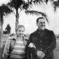 """FILE - In this Oct. 10, 1950 file photo, Argentina's President Juan Peron and his wife Maria Eva Duarte de Peron, known as """"Evita,"""" pose for a portrait in Buenos Aires, Argentina. Argentina commemorates the 60th anniversary of the death of their most famous first lady on Thursday, July 26, 2012.  Evita died of cancer on July 26, 1952 at the age of 33.  (AP Photo, File)"""