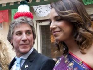 """El vice y su novia, García de la Fuente, diputada de la """"telebancada"""" mexicana."""