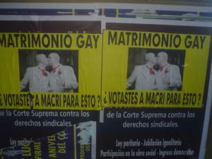 La campaña contra Macri en el 2010 era por haber apoyado el matrimonio gay.