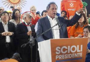 """El """"Negro"""" Oro se sumó al cierre marplatense oficialista."""