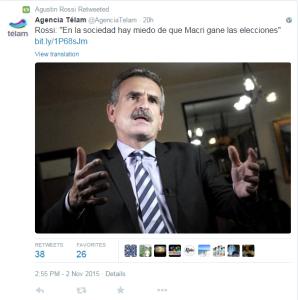 Agustín Rossi, ministro de Defensa. Más miedo.