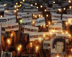 Movilización exigiendo justicia por las víctimas de Once.