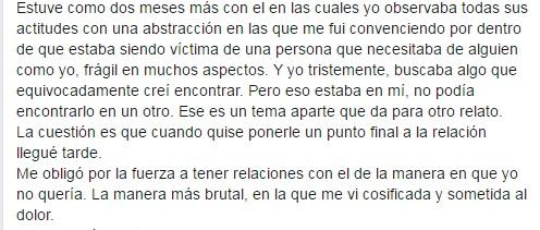 Extracto del relato de Silvina Camino.