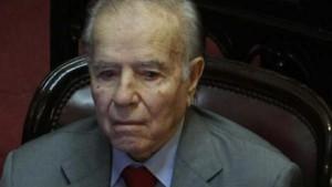El ex presidente Carlos Menem, investigado.