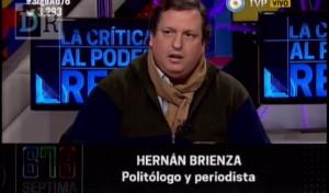Hernán Brienza: reclama 800 mil pesos.
