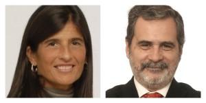 Mariel Fornoni y Carlos Fara.