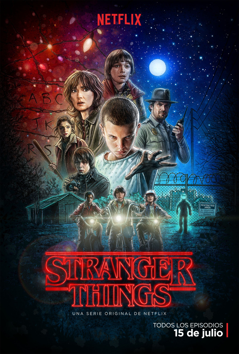 stranger things ilustrado border