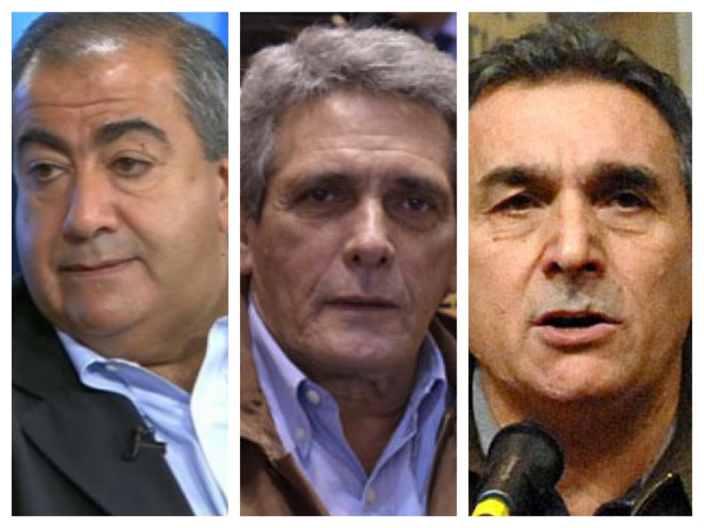 Juan Carlos Schmid (23 años), Héctor Daer (23) y Carlos Acuña (11), los candidatos para el triunvirato.