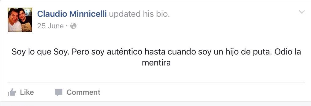 Posteo en Facebook.