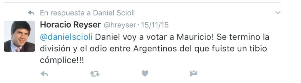 En plena campaña, activó fuerte por Macri en contra de Scioli.