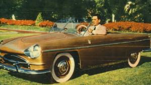 """El auto """"El justicialista"""", que sería parte del museo."""