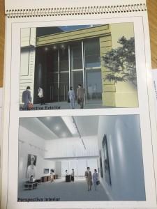 Proyecto del salón/museo que quieren construir.