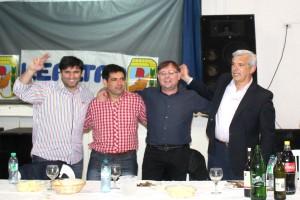 Bossio, Romero y Domínguez celebraron en el interior bonaerense.