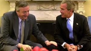 Julio de 2003. Primera reunión Kirchner-Bush.