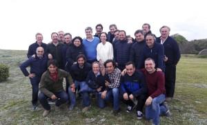 Vidal, con su gabinete, en otro retiro PRO.