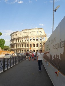 El sobrino de Cascales, en Roma, en 2013.