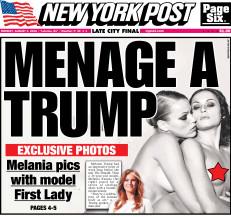 El New York Post expuso las fotos desnuda de la ahora First Lady.