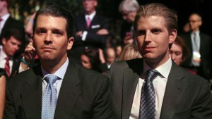 Donald Jr. y Eric Trump.