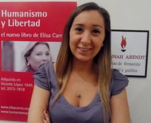 Carolina Maccione, comunera de Carrió, llamó la atención.