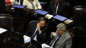 Pichetto y Fuentes, siempre juntos, hoy tensionados.