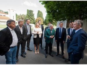 Macri y los gobernadores, en uno de sus encuentros en Olivos.