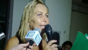 Andrea Kloster, en lucha.