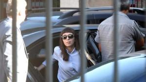 Flor K, al declarar en Tribunales. Su madre había pedido una eximición de prisión para ella.