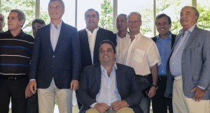 Macri, en diciembre, en el último encuentro con sindicalistas.
