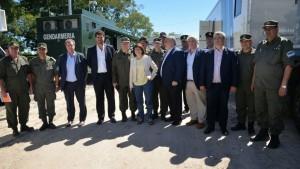 La ministra Bullrich, el gobernador Colombia y otros funcionarios de Seguridad participaron del operativo.