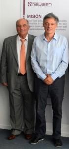 Emilio Mazzola, de Siam, junto a Cabrera, actual ministro de Producción.