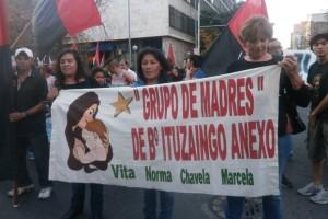 Marcha de las madres del barrio Ituziango Anexo.