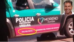 "Patrullero con la ""firma"" de Festa."