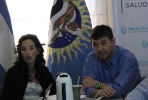 La ministra Rocío García de Kirchner y Marcelo Bersanelli, futuro juez.
