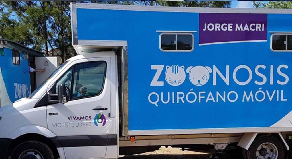 El camión con nombre de Macri