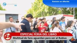El Rubius enloqueció a fans en la Feria del Libro del año pasado.