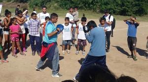 """El """"Chelo"""" y Ramiro, los dos nuevos profesores de boxeo."""