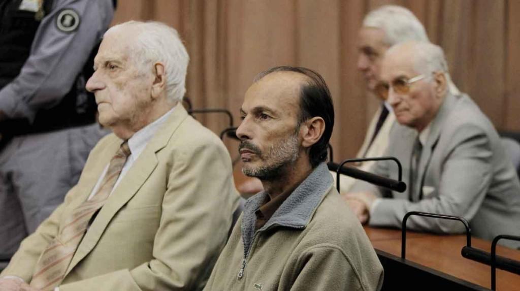 Junto al dictador Bignone, el verdadero represor Luis Muiña.
