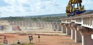 Una de las tantas obras de infraestructura chinas: el tren, en Kenia.