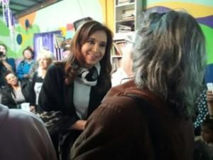 Cristina Kirchner, de campaña.