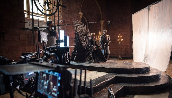 Game of Thrones Behind the Scenes Season 7, Episode TK L-R: Lena Headey as Cersei Lannister and Nikolaj Coster-Waldau as Jaime Lannister