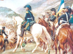 San Martín caballo blanco