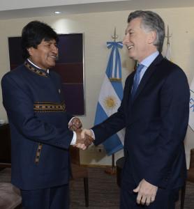 Macri y Evo Morales tuvieron una reunión bilateral. Formalidad: no lo quiere en el Mercosur.