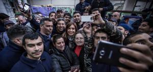 Cristina, de campaña en Moreno.